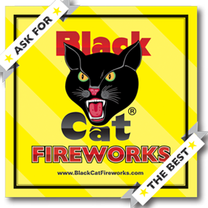 black cat 6x6 banner