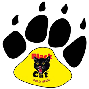black cat paw decal