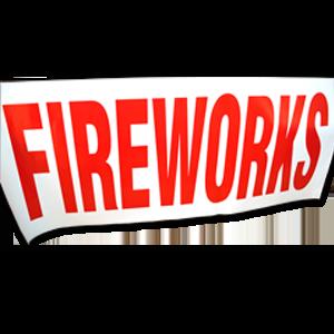 fireworks paper banner