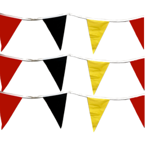 red yellow black pennants