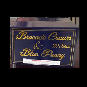 Brocade Crown Blue Peony