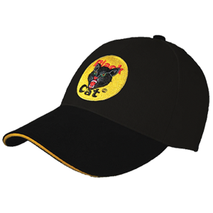 black cat logo hat