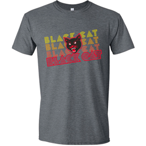 black cat repeat logo shirt