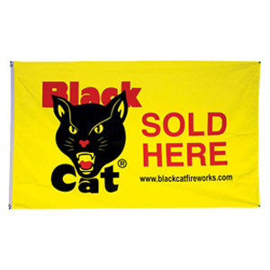 black cat sold here flag