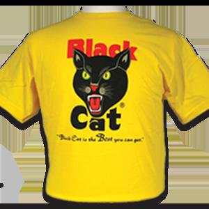 black cat yellow t-shirt