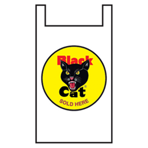 black cat retail bag